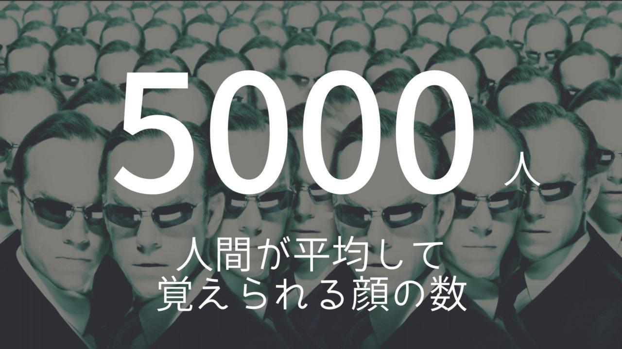 雑学ネタ 5000人